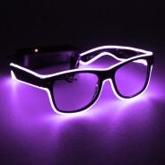 Light Up Party Fun Glasses 8 Purple