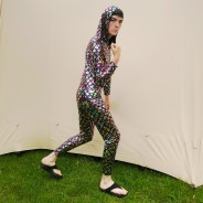 Rainbow Hooded Cat Suit 2