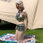 Silver Sequin Halter Neck Crop Top & Hot Pants 2