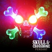 Light Up Skull & Crossbone Pirate Necklace 3