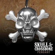 Light Up Skull & Crossbone Pirate Necklace 4
