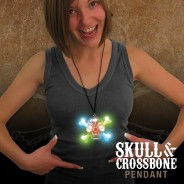 Flashing Skull & Crossbone Pirate Necklace Wholesale 3