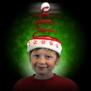 Wholesale Light Up Springy Santa Hat LED 4