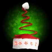 Light Up Springy Santa Hat 2