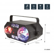 Tetra LED Moonflower Disco Light with Lasers 22