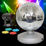 "8"" Free Standing Mirrorball Set"
