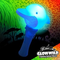 Dolphin Mini Light Up Animal Wand 7""