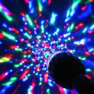 Sound Activated Disco Light Bulb (B22)