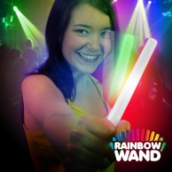 Battery LED Glow Stick -  Rainbow Wand Wholesale