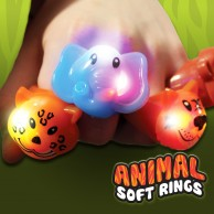 Light Up Animal Soft Rings
