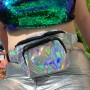 Silver Holographic Bum Bag 1
