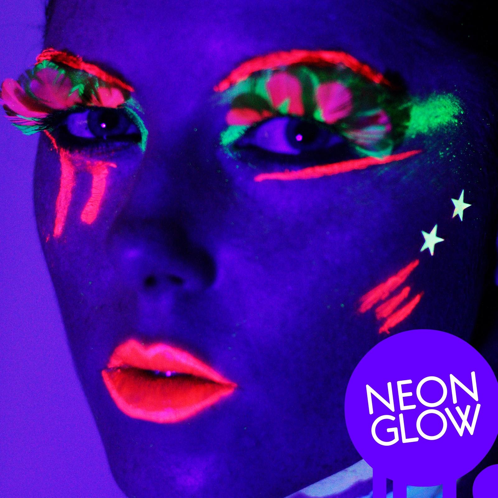 Global Colours BodyArt Fluorescent Neon Glow in the Dark