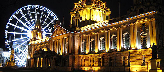 City Hall And The Belfast Wheel