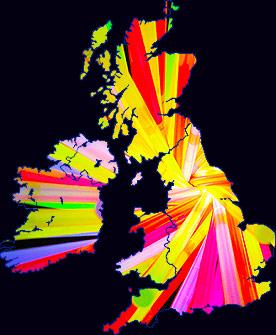 Glow Sticks UK Map